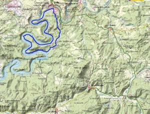 Mapa Recorrido Media Distancia: 16Km - Trail Trillo