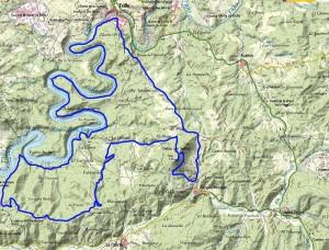 Mapa Recorrido Larga Distancia: 40Km - Trail Trillo