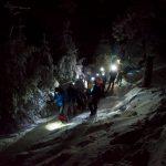 ruta nocturna con raquetas de nieve en Madrid