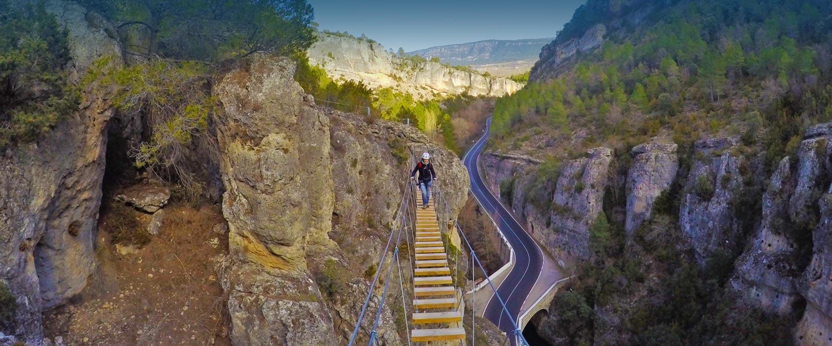 Nueva vía Ferrata de Priego en Cuenca, cerca de Madrid